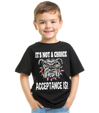 It's Not a Choice Acceptance is Autism T Shirt
