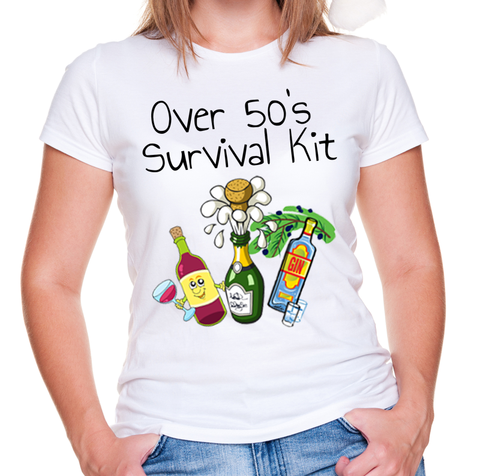 Over 50s Survival T Shirt.