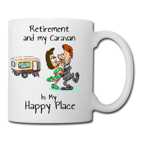 Retirement and My Caravan is my Happy Place Mug