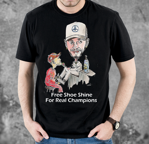 Shoe Shine Motor Racing T Shirt