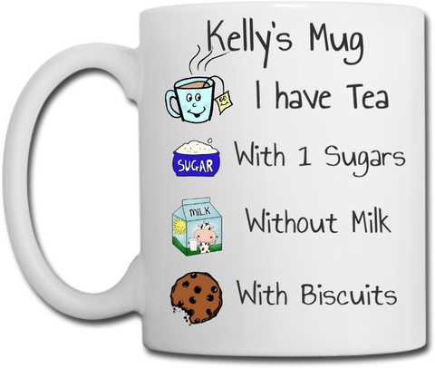 Personalised Tea or Coffee Mug