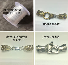 Load image into Gallery viewer, Custom Bracelet (Starting from $20) Looking for something one of a kind? Design your own piece with our customizable option. Pick a size, stone, silver, and add a clasp or stretch cord.-Blkwhiser
