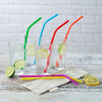 Reusable Silicone Drinking Straws & Brush - Pack of 8