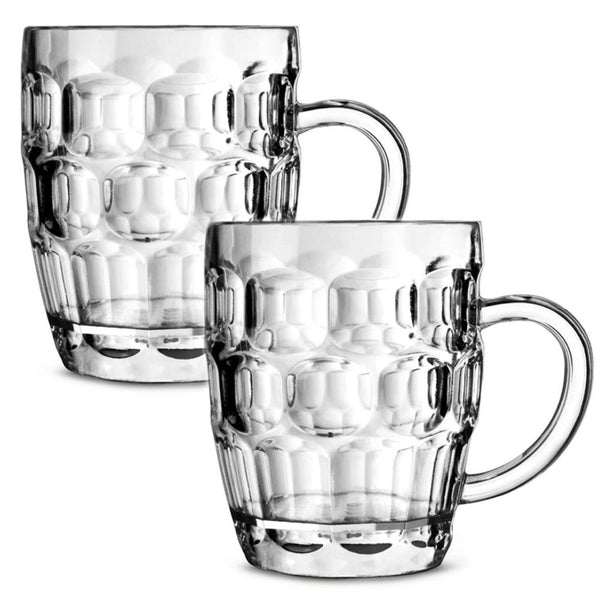 Classic Dimple Pint Glasses - Pack of 2