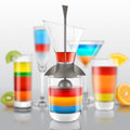 Rainbow Cocktail Layering Tool