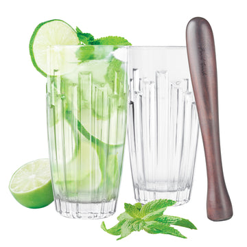 Final Touch Metropolis Mojito Glass Gift Set