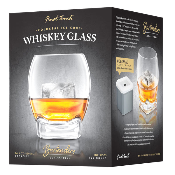 Colossal Whisky Glass & Ice Cube set