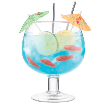 Glass Cocktail Fish Bowl 1.3Litre