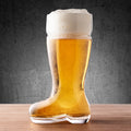 Large Beer Boot Glass 1Litre