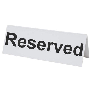 Flexible Plastic Reserved Table Sign