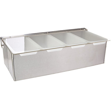 Stainless Steel Condiment Dispenser - 4 Compartments