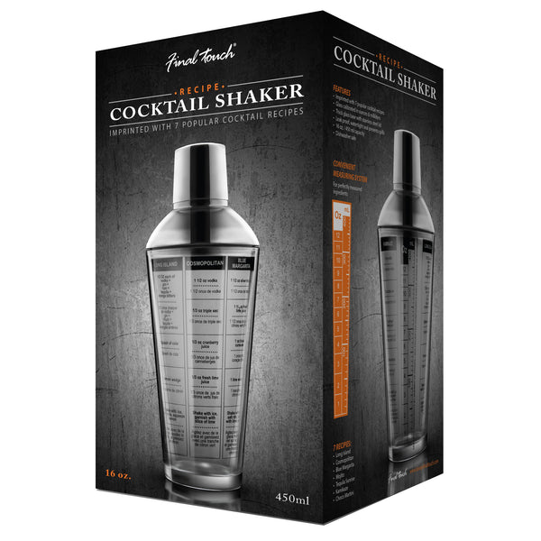 Glass Recipe Cocktail Shaker 473ml