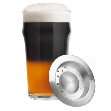 Black & Tan Beer Layering & Glass Set