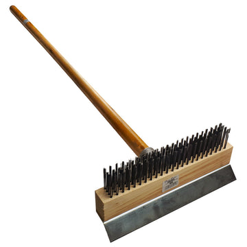 Pizza Oven Brush With Wooden Handle - 38inch