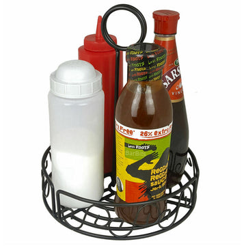 "6"" Round Condiment Table Caddy"