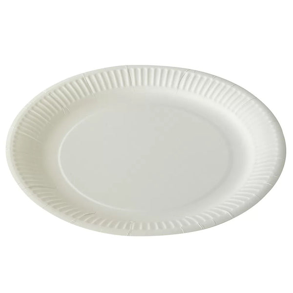 White Paper Plates 18cm - Pack of 100