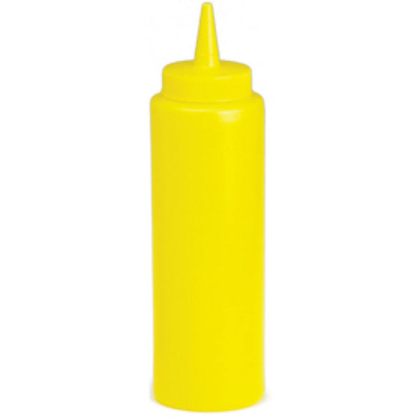 Yellow Plastic Squeeze Bottle - 8oz