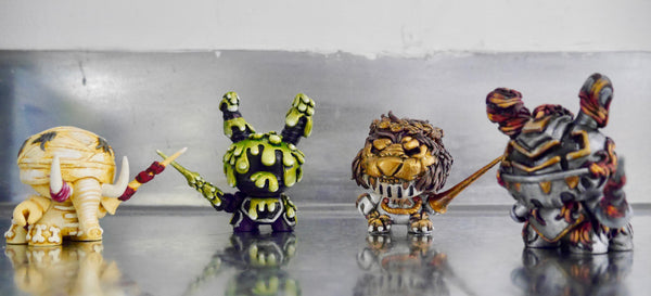 Set of 4 horsemen of the Apocalypse- Custom Dunnys by The 3D Hero