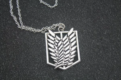 Wings of freedom silver necklace