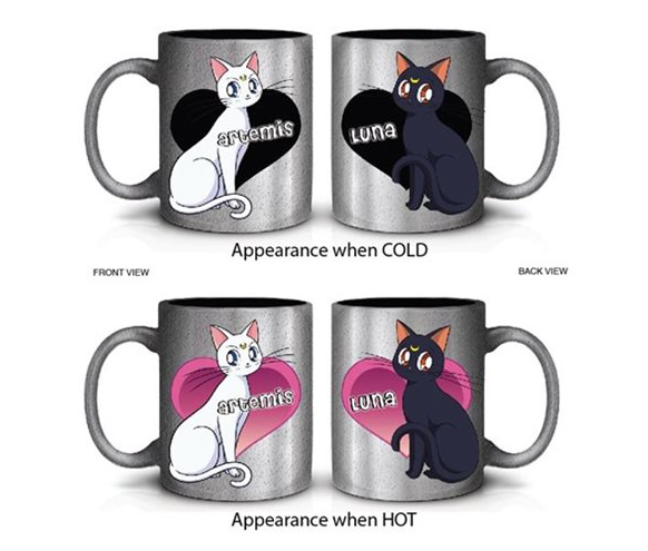 Sailor Moon Artemis and Luna Heat-Changing Mug