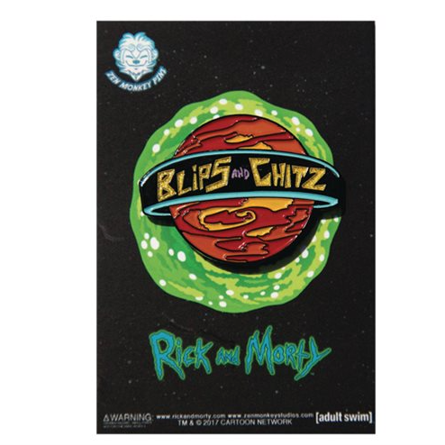 Rick and Morty Blips and Chitz Lapel Pin