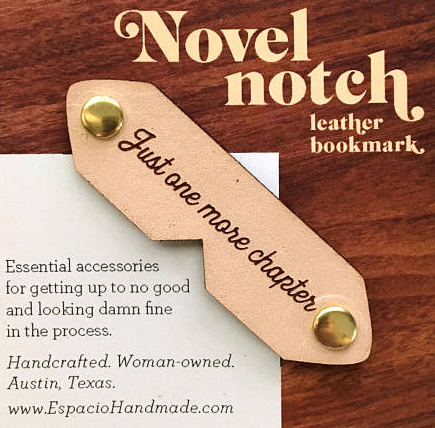 Leather corner bookmarks
