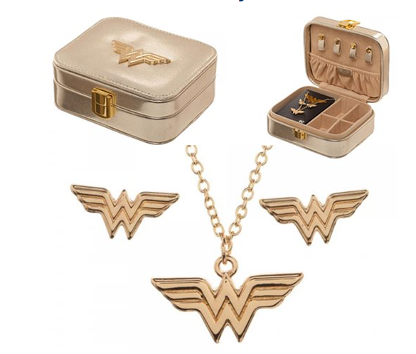 Wonder Woman Jewelry Set and Case