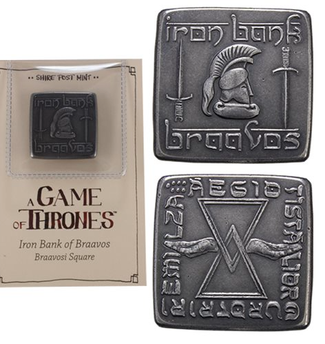 Game of Thrones Braavosi Iron Square Coin