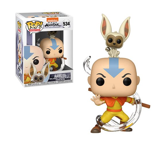 Avatar: The Last Airbender Aang with Momo Pop! Vinyl Figure #534