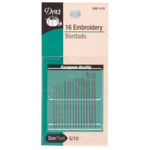 Needle: Embroidery 16 Pack