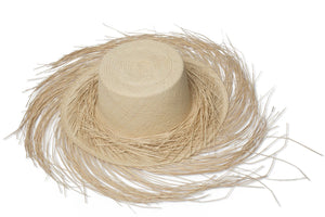 Fringy beach hat