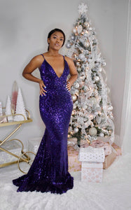 Trophy Wife-Backless Maxi Dress (Blue)