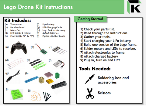 lego drone kit instructions