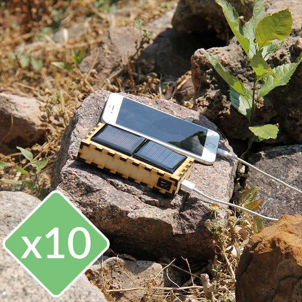 Wood Solar Charger Kit - 10 Pack