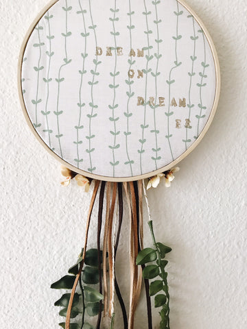 Dream on Dreamer | Boho Dreamcatcher Wall Hanging| Bast + Bruin