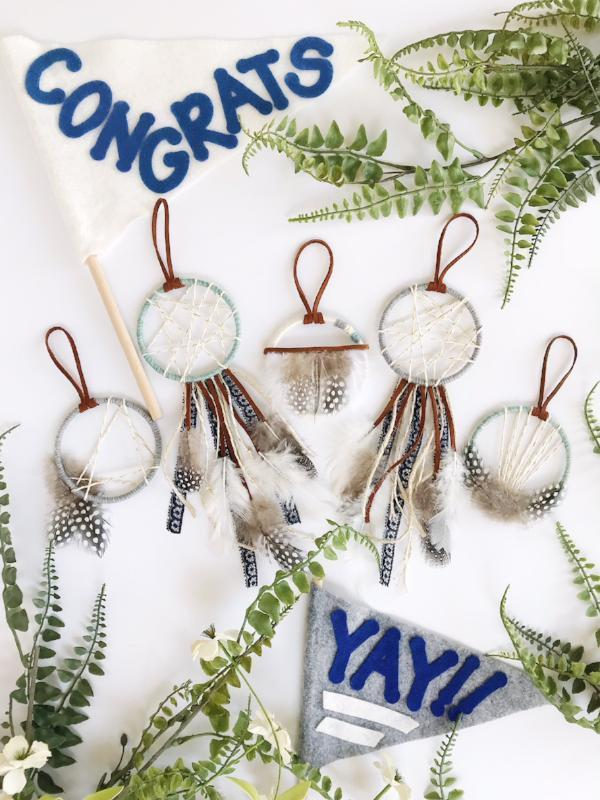 modern rustic dream catcher wedding favors | Bast + Bruin