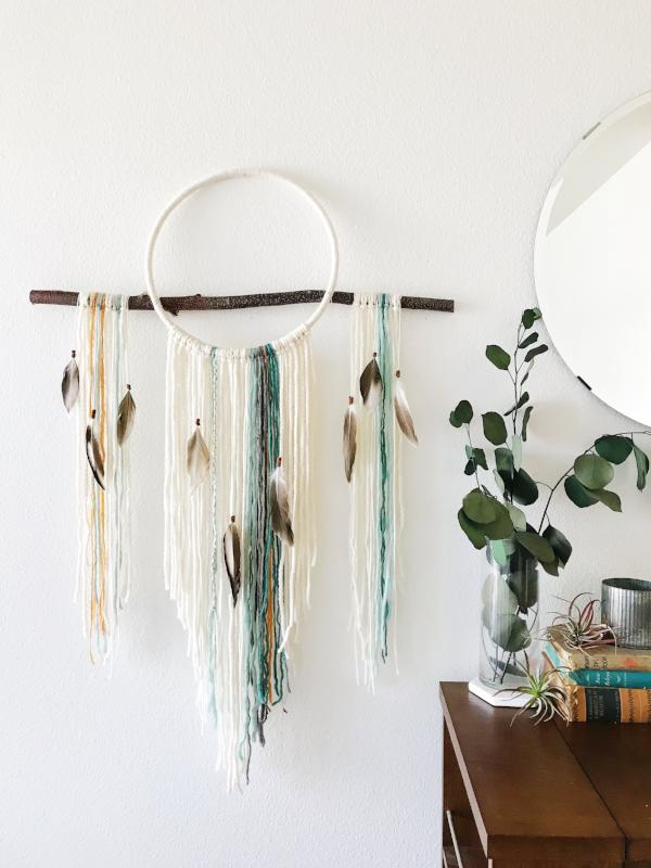 large dream catcher wall hanging | bast and bruin