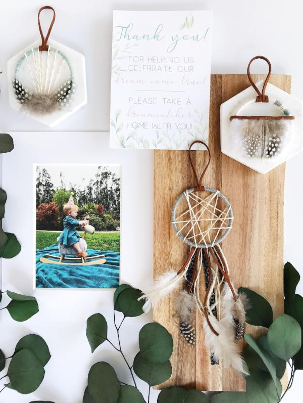 boho baby shower favors | dreamcatcher favors | bast + bruin