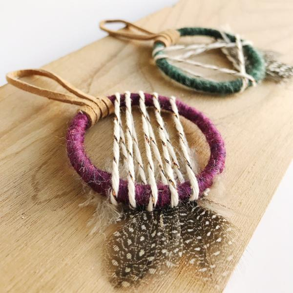 Close up of Mini Dreamcatcher Party Favors | Bast + Bruin