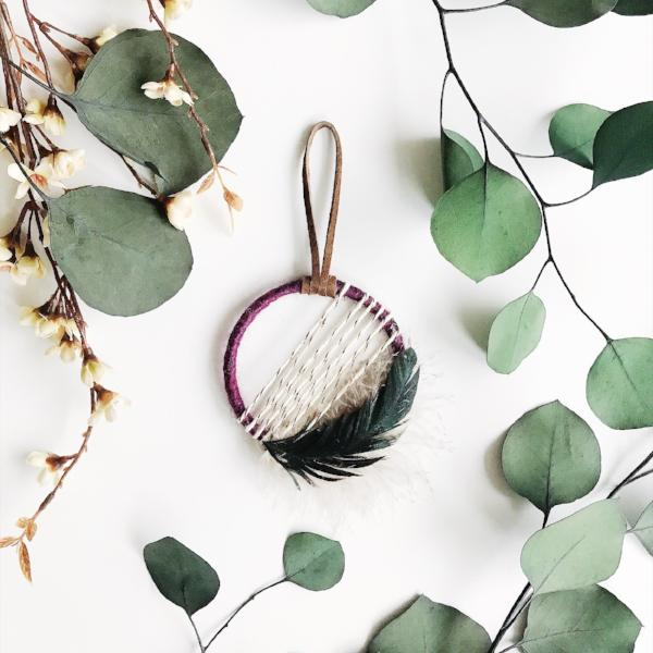 plum small dream catcher | bast + bruin