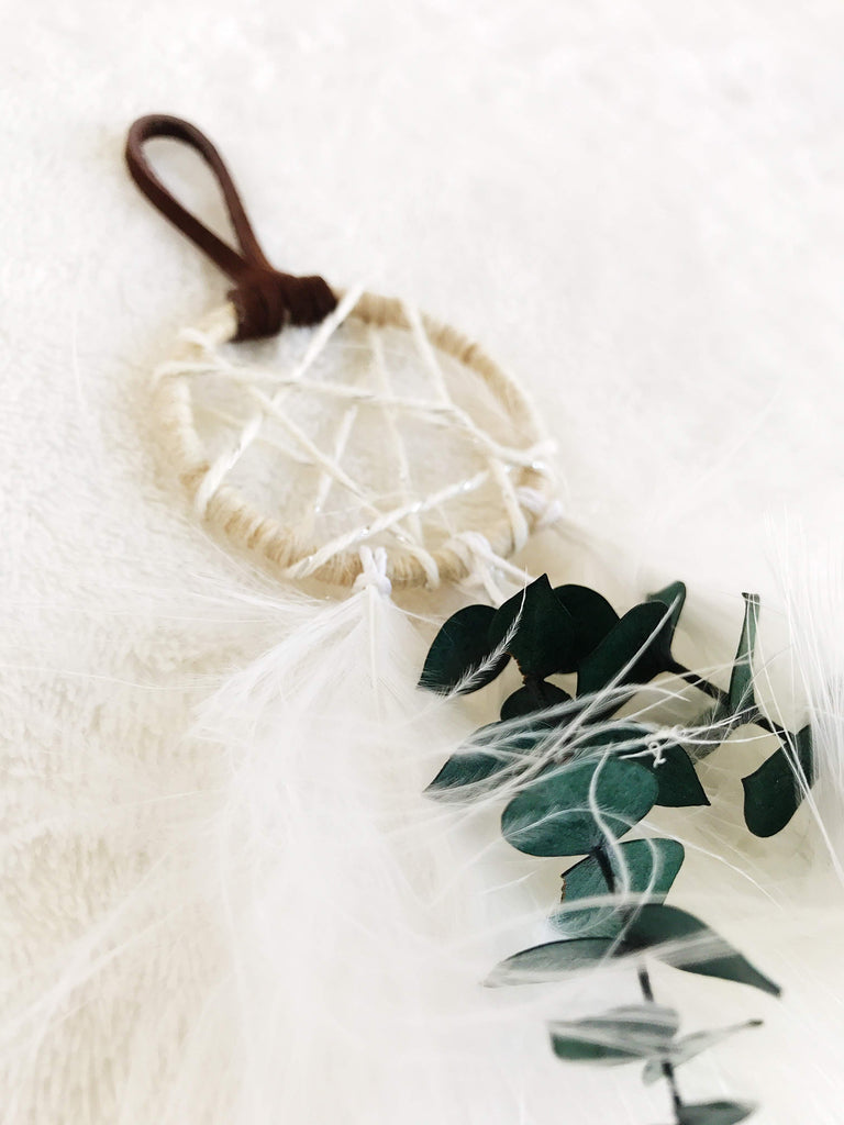 Winter Garden Dream Catcher Ornament - Eucalyptus