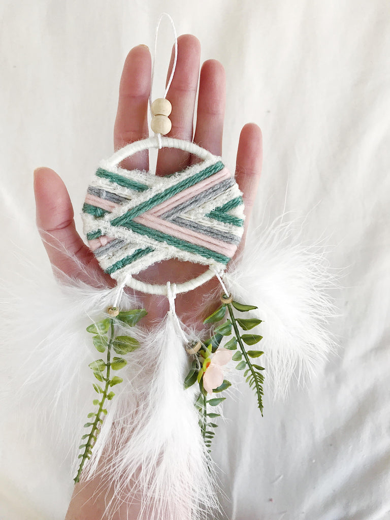 Lavender Woven Dream Catcher