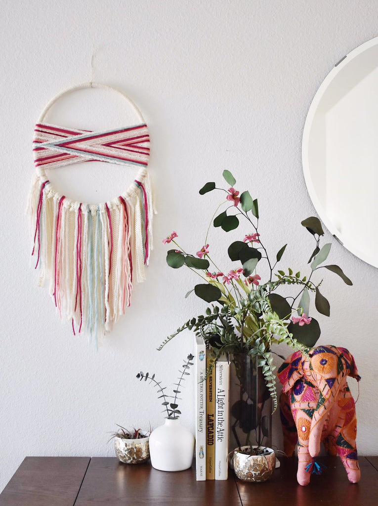 boho nursery dream catcher wall hanging