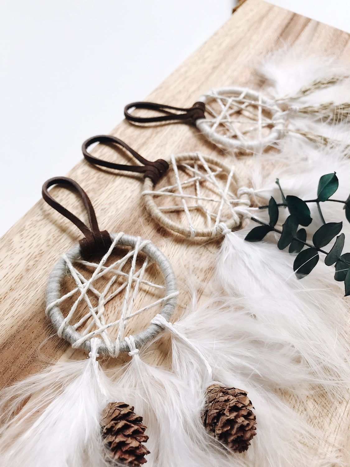 Winter Garden Dream Catcher Ornament Set