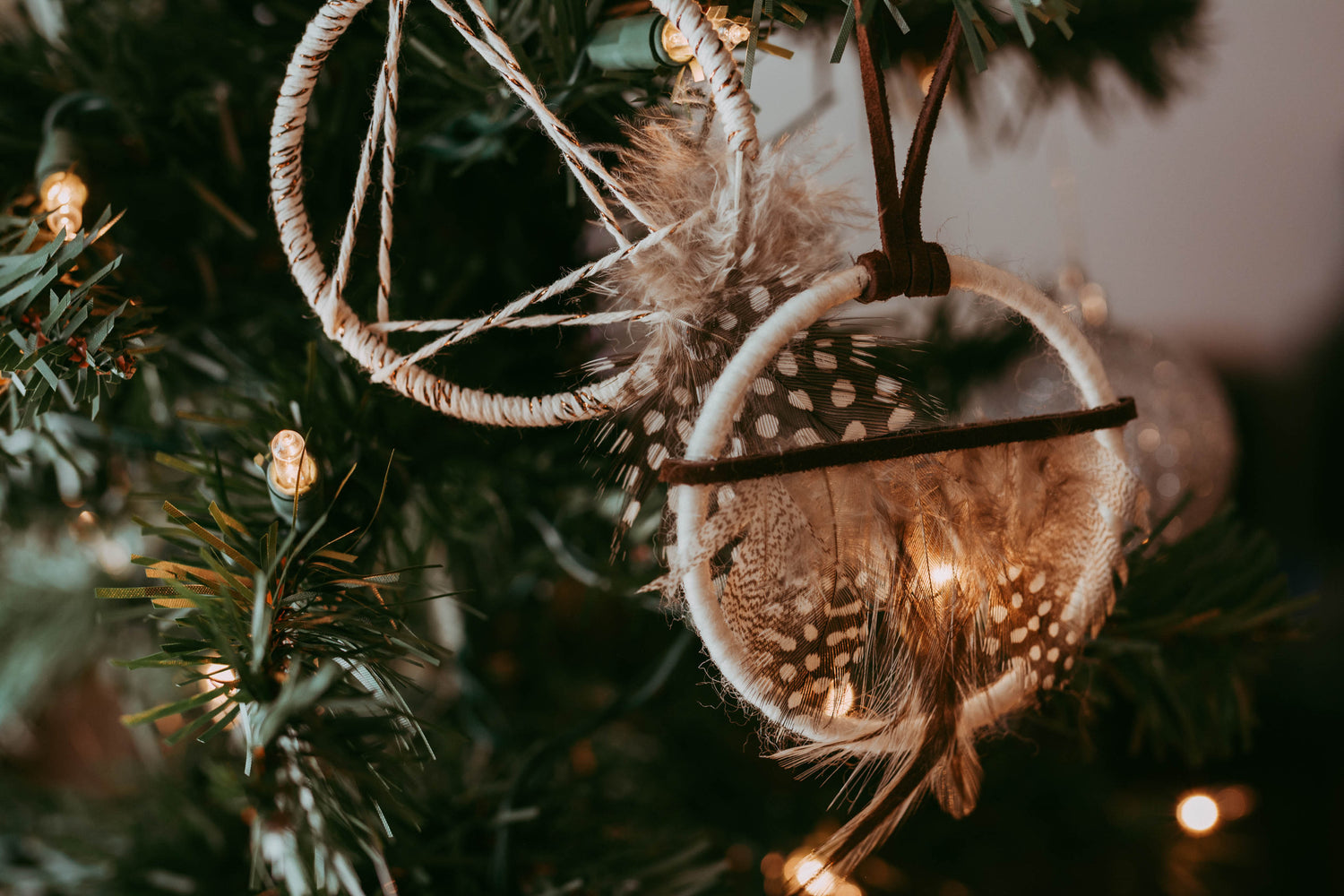 Cabin in the Woods Dream Catcher Ornament