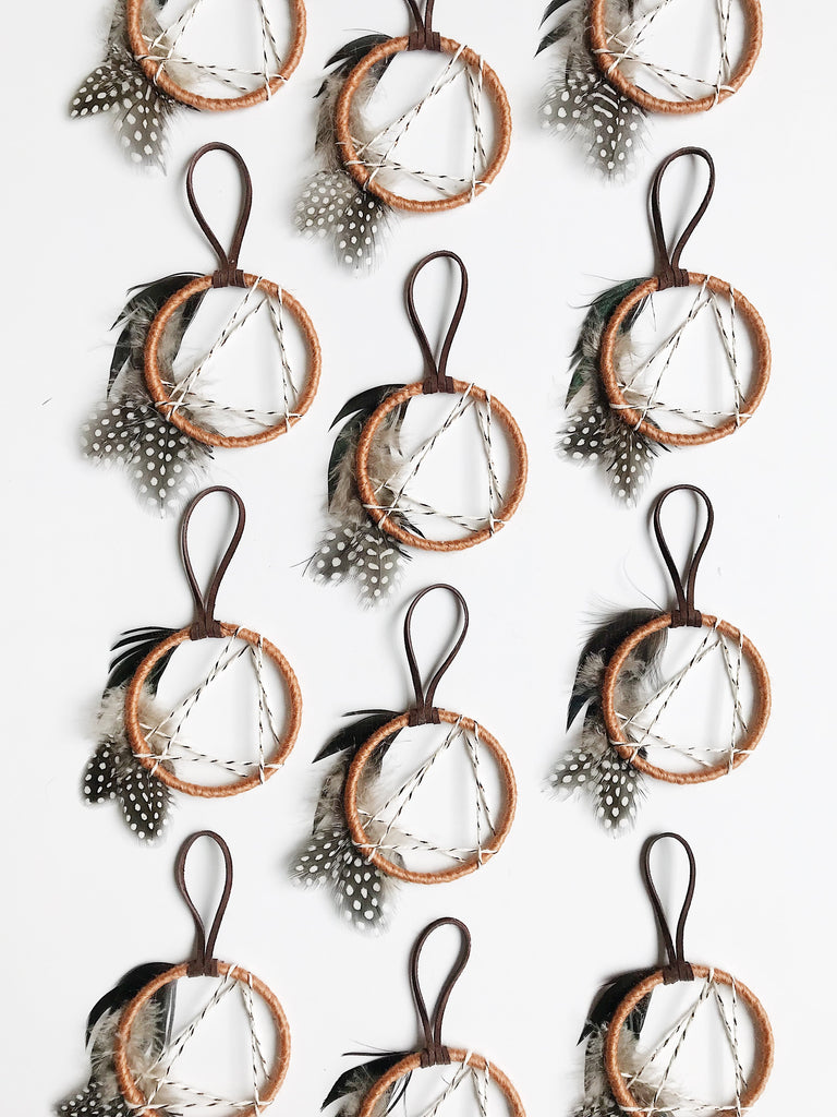 North Star Mini Dream Catcher - Honey Gold