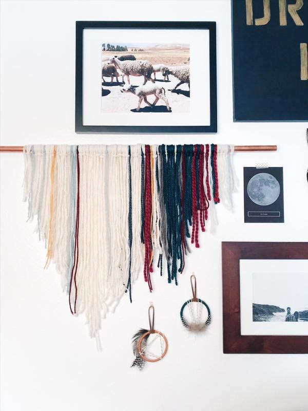 mini dreamcatchers as gallery wall accents | bast + bruin