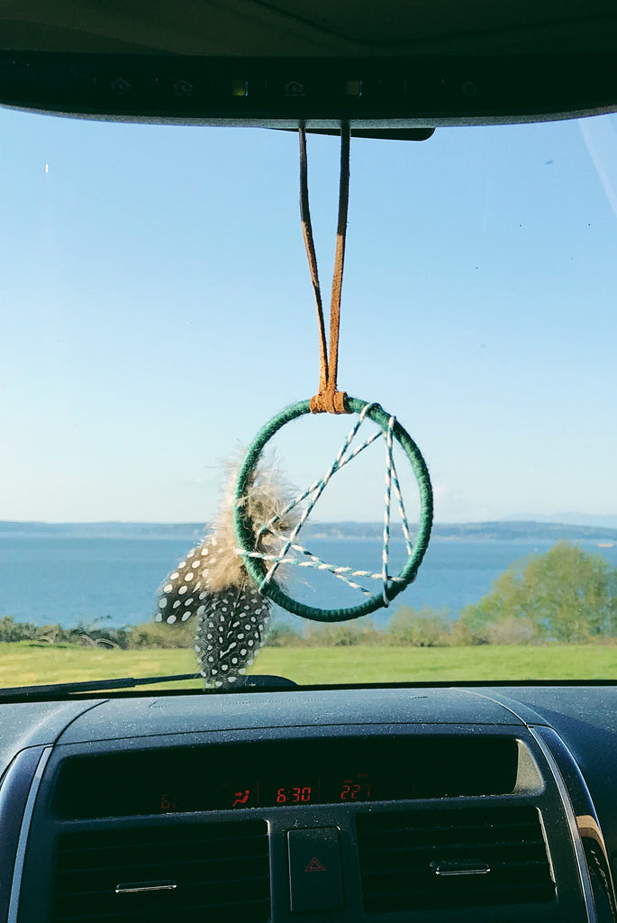 North Star Mini Dream Catcher - Teal
