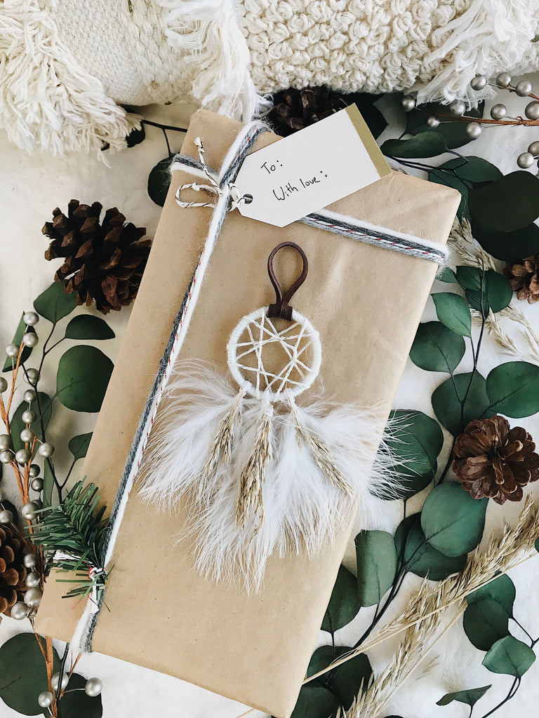 Winter Garden Dream Catcher Ornament - Pinecone