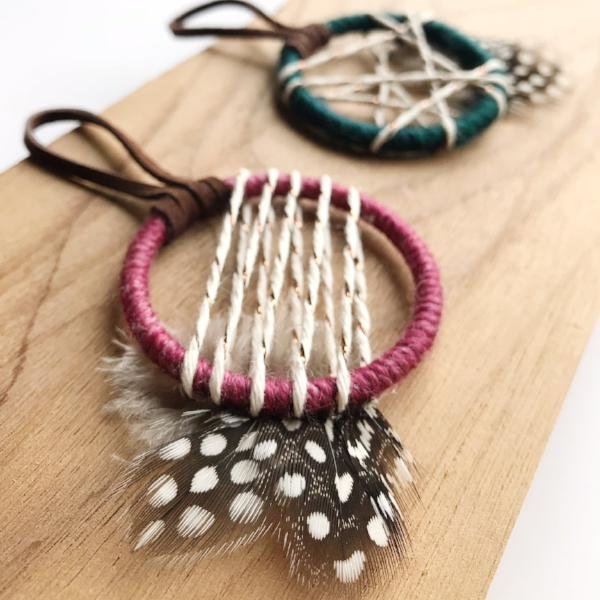 small dreamcatcher wedding favors by bast + bruin